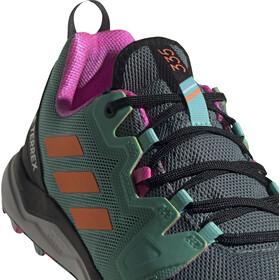 adidas TERREX Agravic Trail Running Shoes Men, hazy emerald/screaming orange/screaming pink